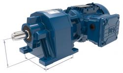 Das neue Getriebemotorenprogramm WG20 mit Standardanschlussmaßen und robusten Aluminiumdruckgussgehäusen - in diesem Beispiel ein Stirnradgetriebemotor - bietet höchste Effizienz und Zuverlässigkeit