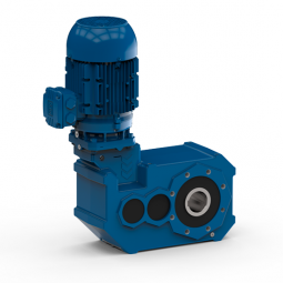 Special helical bevel geared motor